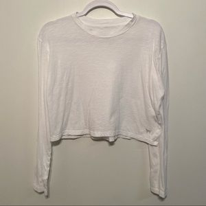 PINK Victoria's Secret Cropped Long Sleeve T-Shirt